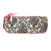 Bouquet cosmetics bag white damask