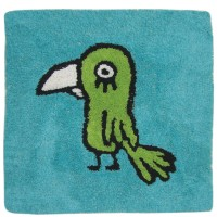"""Blue bathroom rugs with parrot """"Pirata"""""""