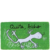 "Green doormat ""Quita, bicho"""