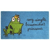 "Blue doormat ""Soy single"""