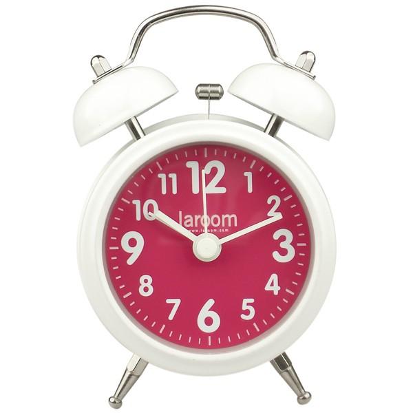 White and fuchsia alarm clock