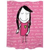 """Cortina de baño niña rosa """"Mirar"""""""