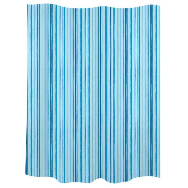 """Cortina de baño """"Trazos"""" rayas azules"""