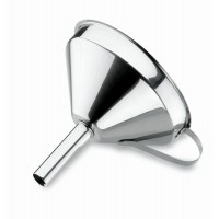 Inox funnel with removable filter