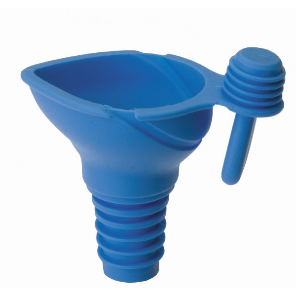 Silicone funnel with stopper