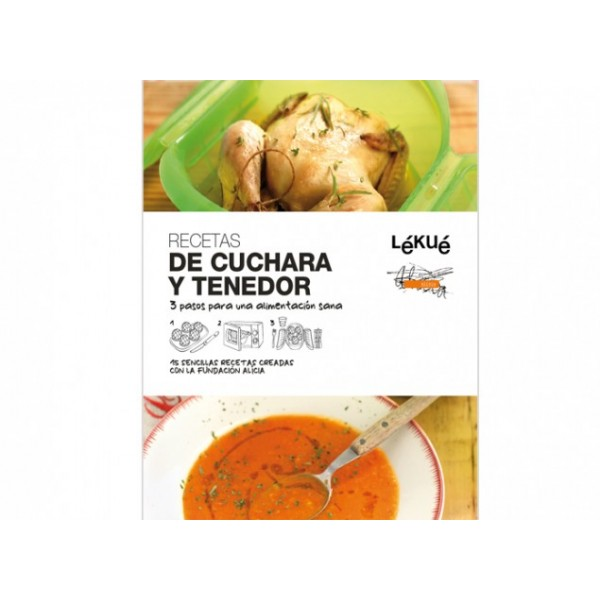 Spoon and fork recipes book Lékué