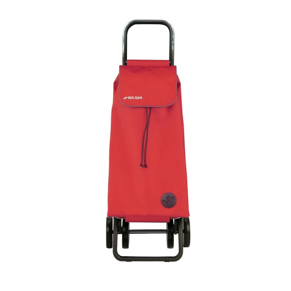 Shopping trolley cart pack Mf logic red dos+2 4 wheel