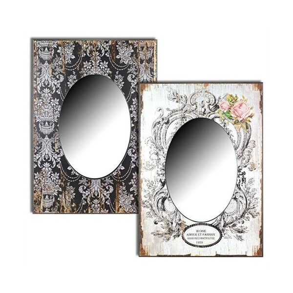 Mirror frame decorated 2 models 50x70 cm