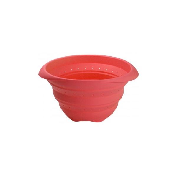 Colador plegable silicona Lékué 23 cm rojo
