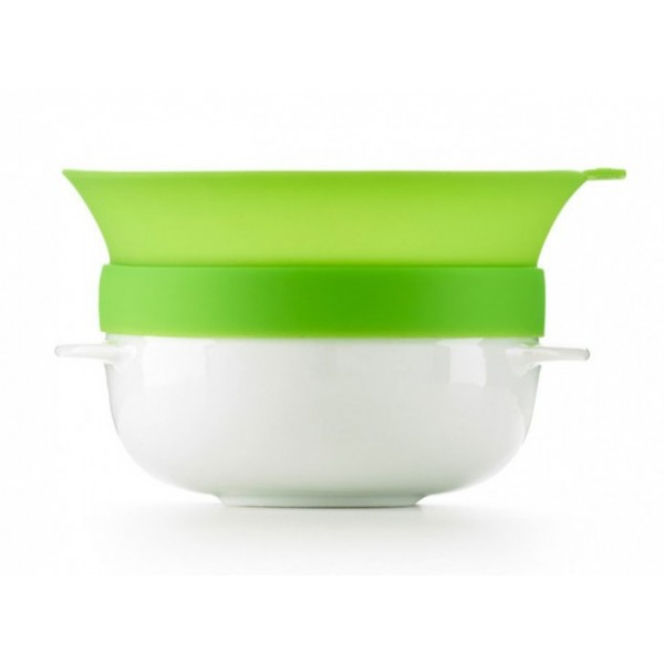 Lékué ceramic Cereal Breakfast container with cover green