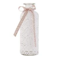 Botella cristal Crochet y lazo