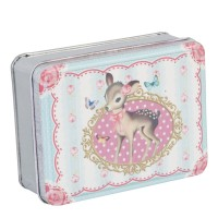Caja vintage metal rosa Cervatillo