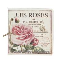 """Libreta tela rosas """"Les Roses"""""""