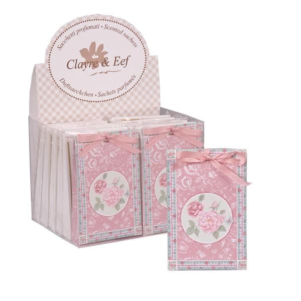 Frangrance sachet rose 8x12 cm pink