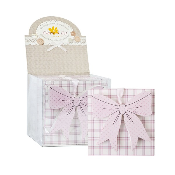 Frangrance sachet lily of the valley 10x10 cm pink