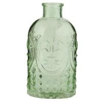 Botella cristal tallado verde
