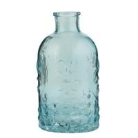 Botella cristal Tallado azul