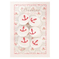Button card 4x6 cm white