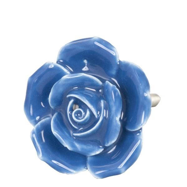 Bouton de porte ø 4,5 cm bleu