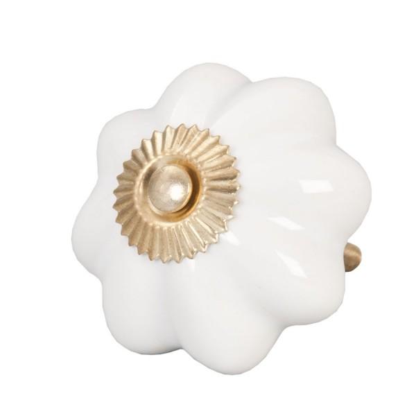 Tirador antiguo porcelana blanco