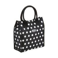 Black polka lunch / snack cool bag