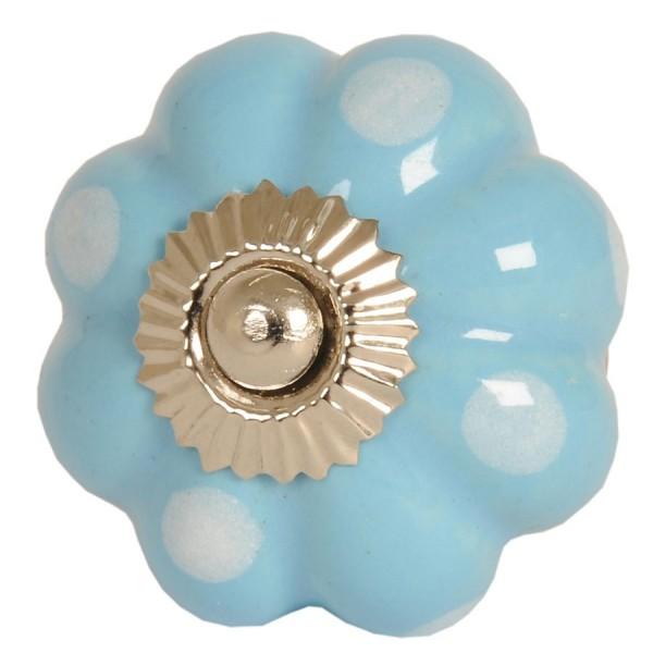 Bouton de porte ø 4 cm bleu clair