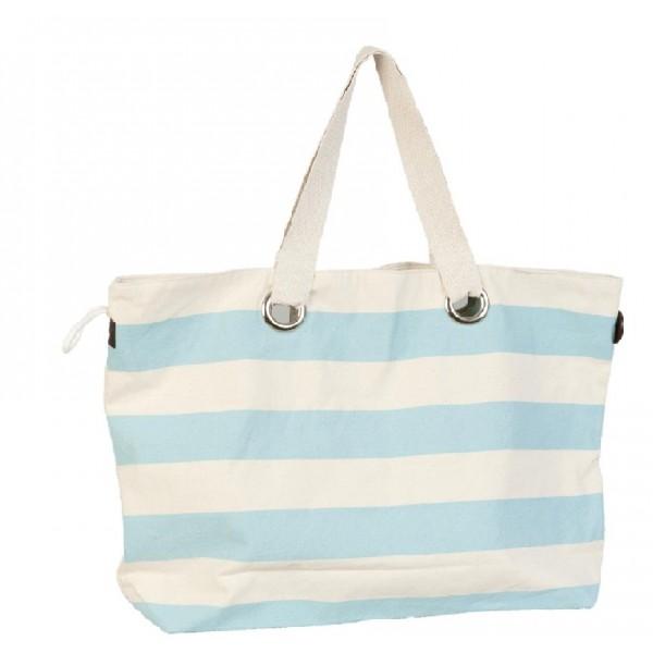 Sky blue striped beach bag sailor