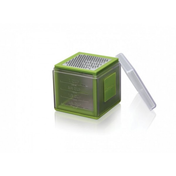 Râpe cube 3 faces avec recuperateur Microplane vert