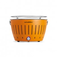 Portable charcoal barbecue orange LotusGrill