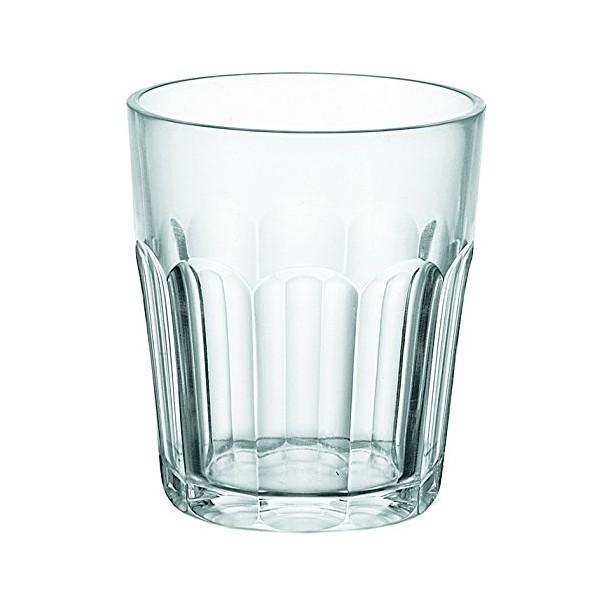 Vaso bajo esmerilado Molato Dolce Vita transparente Guzzini