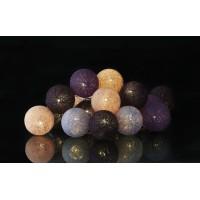 Guirnalda bolas de hilos 20 led tonos morado