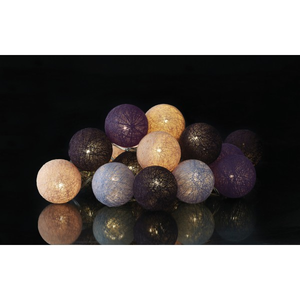 Garland wire led balls purple