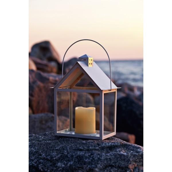 Led metal candle lantern house