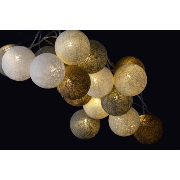 Garland wire led balls cream