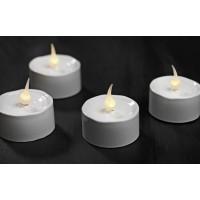 Cajita 6 velas blancas led
