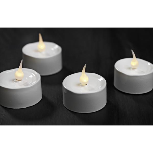 Set 6 led white candles