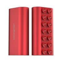Power bank squid mini puissance rouge métallique 5200mah
