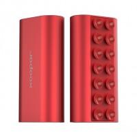 Power bank squid mini rosso metallizzato 5200mah