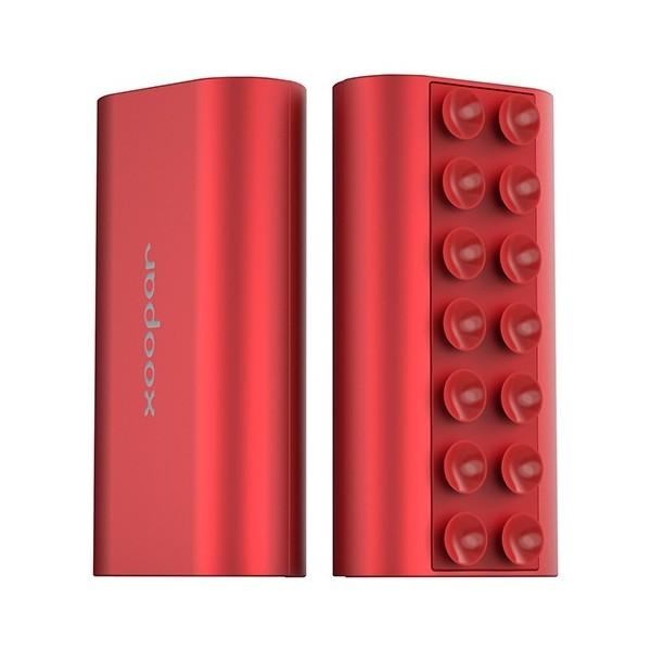Metallic red squid mini power bank 5200mah