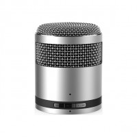 Bluetooth handsfree speaker micro metallic silver Idol2