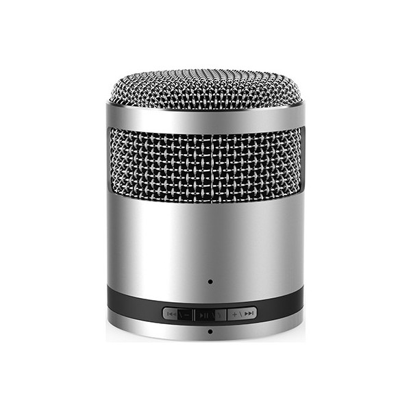 Vivavoce bluetooth altoparlante micro argento metallico Idol2
