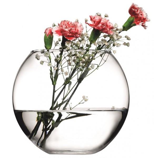 Jarrón vidrio decorativo acuario 16 cm