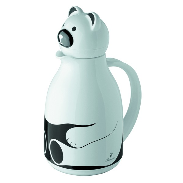 White thermo jug Bear 1 l
