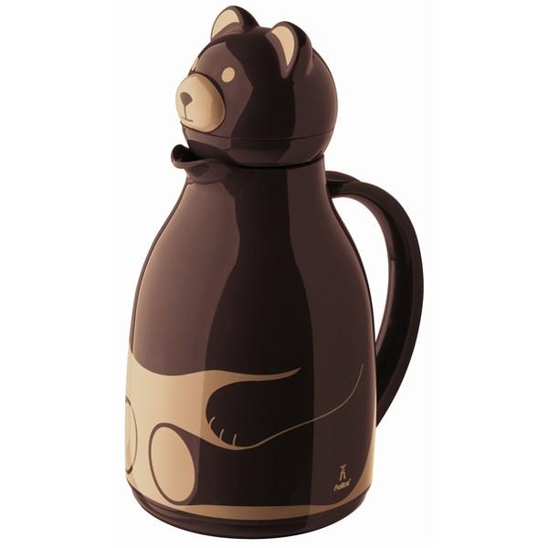 Brown thermo jug Bear 1 l