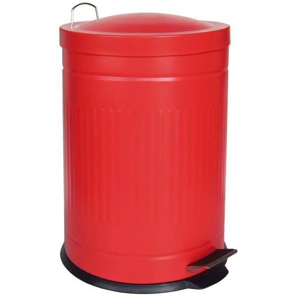 Step metal bin red 20 L
