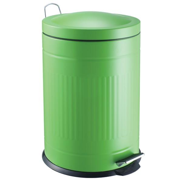 Step metal bin green 20 L