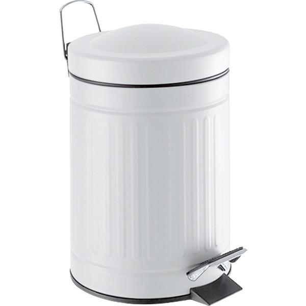 Step metal bin white 20 L