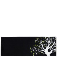 Alfombra cocina negra Árbol 50x140 cm