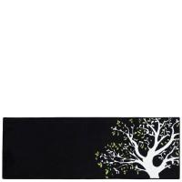 Tapis de cuisine noir Árbol 50x140 cm