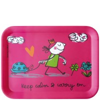 "Bandeja de mesa ""Keep calm & carry on"" 43x32 cm"